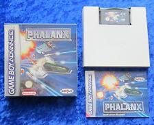 Phalanx, GBA GameBoy Advance Spiel, OVP Anleitung