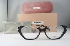 Miu Miu VMU 04O 1AB-1O1 Rasoir Black Silver New Authentic Eyeglasses 52mm w Box