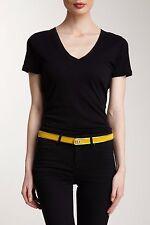 NWT M Missoni Womens Adjustable Gold-Tone Trim Leather Skinny Belt $553