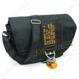USAF United States Black Paratroopers Air Force Satchel Bag - New