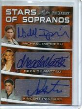 2019 Leaf Pop Century Stars of Sopranos 6 Person Autograph #1/5