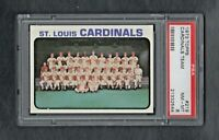 1973 TOPPS #219 ST LOUIS CARDINALS TEAM PSA 8.0 NM/MT++SHARP CARD!