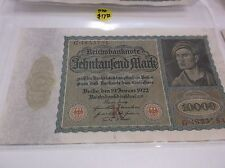 German Reichsbanknote Marks Dated 19 Januar 1922 Qty 10
