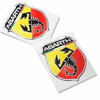 FIAT ABARTH badge style stickers car or motorcycle decals graphics x 2