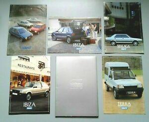 Konvolut Seat Prospekte + Presseinformation, Malaga / Ibiza / Terra,  1987