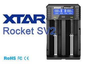 SONDERPOSTEN Xtar Rocket SV2 Schnellladegerät für Li-Ion und NIMH Akkus