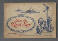 1939 Wills's Life in The Royal Navy Tobacco Cards Complete Set in the Album