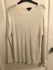 Womens Topshop White Jumper / Size 8