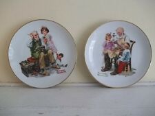 "1984 LOT OF 2 NORMAN ROCKWELL 6.5"" COLLECTOR Plates THE COBBLER AND TOYMAKER"