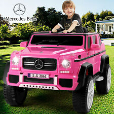 Pink 12V Mercedes-Benz Electric Kids Ride On Car Toys MP3 LED USB Remote Control