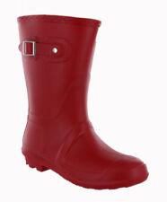 Scarpe da donna rosso in gomma con fibbia