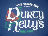 Vtg 80s DURTY NELLY'S VILLAGE INN T-SHIRT MADE IN IRELAND SzM SUPER SOFT COTTON