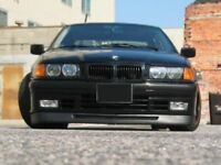 FOR BMW E36 FAT GTR front bumper spoiler chin lip addon valance trim splitter M3