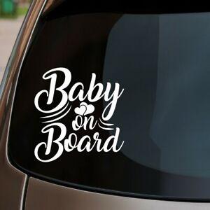 Baby On Board Car Sticker Child Children Kids Hearts Funny Window Bumper Decal