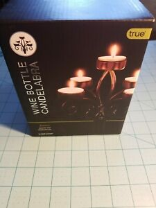 True Fabrications Brand: Black Wrought Iron Candelabra Wine Bottle Topper - NEW
