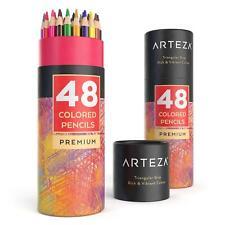 ARTEZA Colored Pencils Set, Soft Wax-Based Core, Vibrant, 48 Colors