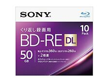 10pack Sony Blu-ray 50GB BD-RE DL Dual Layer 2x Blank Discs bluray Import Japan