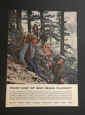 Vintage Print Ad | What Sort Of Man Reads Playboy | Hiking Mountain Backpacks