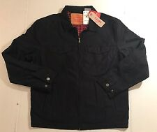 Levi's Men's Harrington Trucker Denim Jacket, Black Medium New