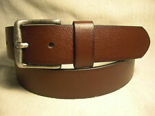 Non-Branded Brown Synthetic Leather Lined on Genuine Leather Belt Sz 42 NWT $28