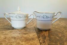 3Pc Noritake Sugar Bowl Creamer Set Ivory Fine China Heather Pattern 7548