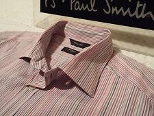 """PAUL SMITH Mens Shirt 🌍 Size 16"""" (CHEST 42"""") 🌎RRP £95+ 📮 SUBTLE MULTI STRIPES"""