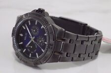Designer Relic by Fossil Men's ZR15533 Ion-Plated Gunmetal Watch NEW RRP £139