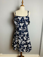 Avella Women's Plus Size Fit And Flare botanical Print Layered Top Dress Sz 20