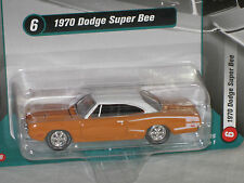 Racing Champions 1/64 1970 Dodge Super Bee ORANGE w/ WHITE TOP Version B