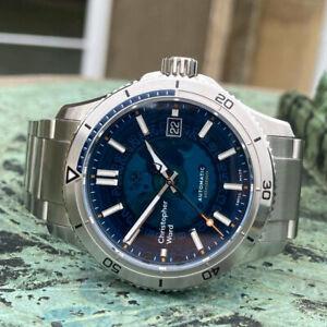 Christopher Ward C60 Blue Sapphire Automatic Dive Watch 40mm