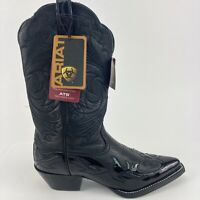 Ariat ATS Heritage Women's Size 6 B Black Leather Pull Up Western Cowboy Boots