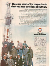 Gulf Oil Corporation 1978 Ad- Gulf People: Meeting The Challenge