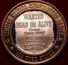 Uncirculated .999 Silver $10 Gaming Token Gunfighter