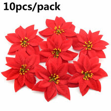 Party Supplies Xmas Gift Christmas Tree Flowers Poinsettia  Glitter Ornament