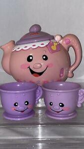 Fisher Price Pink Girl Laugh & Learn Pretty Please Tea Set-w/4 T-CUPS