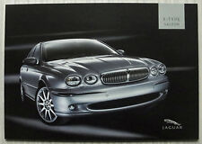 JAGUAR X TYPE SALOON Car Sales Brochure c2004 #JLM/10/02/11/04.5