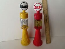 Two Vintage Avon Remember When After Shave Old Style Gas Pumps-One Full