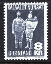 Greenland 1980 8Kr Eskimo Family Mint Unhinged