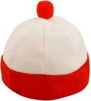 Adult Red and White Geek Bobble Hat Wally Festival Fancy Dress Geeks Accessory