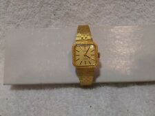 New listing Roberta Wind Up Watch 17 Jewels Shockproof All Gold Clear Glass Vintage Working