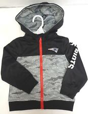 New England Patriots Boys Pixel Camo Jacket Sweater Toddlers