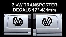 "Volkswagen VW Decal Extra Large 17"" logo Graphic X2 Transporter T5 T4 Campervan"