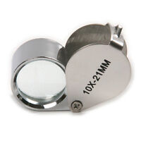 10X 21MM Triplet Eye Loupe Magnifier Magnifying Glass Jewelers Jewelry Diamond