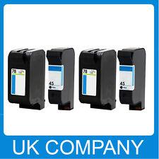 4 Generic Ink Cartridge Set for HP 45 & 78  Deskjet 930C 932c 935c 970Cse