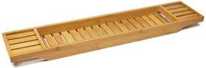 Wooden Bath Tub Caddy Tray Bamboo Bath tub Organize Wine Tray Tablet Holder 70cm