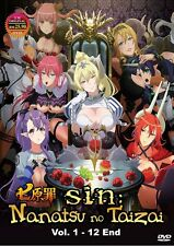 DVD Anime The Seven Deadly Sins Complete Series (1-12 End) UnCut* English Dub