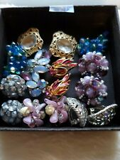 Vintage earrings lot signed