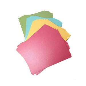 """Crafter's Companion 8-1/2"""" x 11"""" Shimmering Cardstock 32-pack 420064 NEW"""
