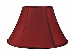 """Urbanest Softback Bell Lamp Shade,7""""x14""""x9"""",Faux Silk, Spider Fitter, 6 Colors"""