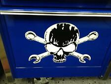 Skull and Cross Wrenches decal for drawer Snap on toolbox rollaway classic